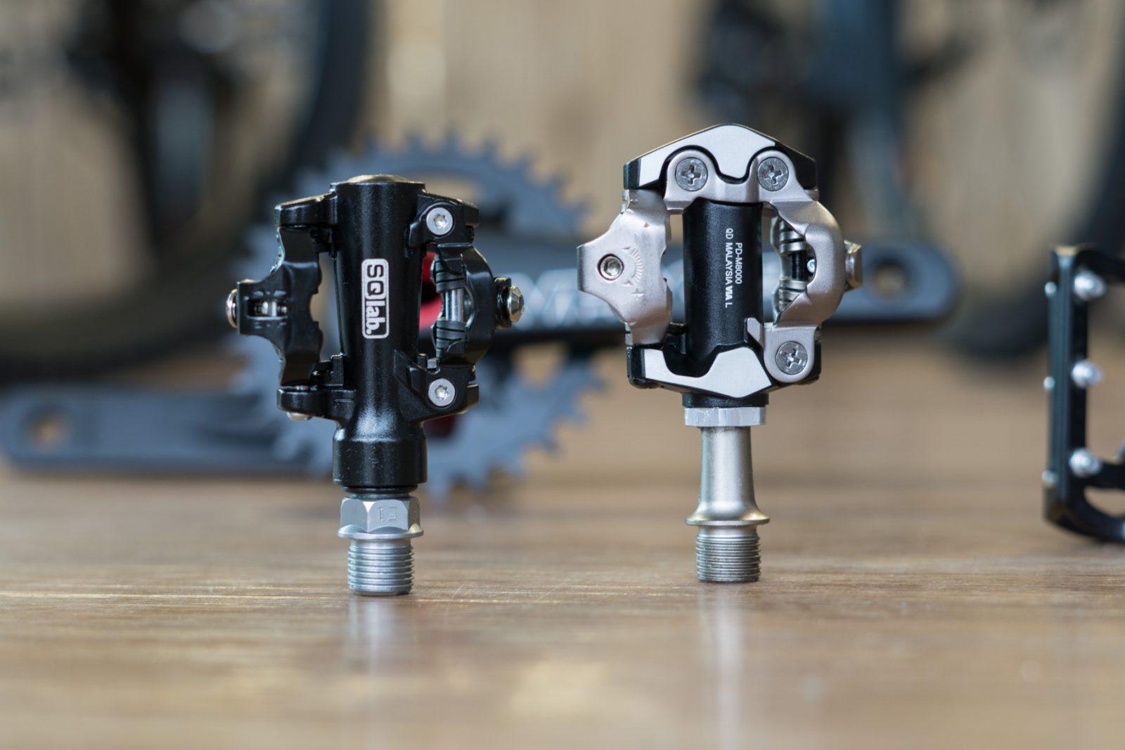 SQ-Lab SPD Klickpedale mit 5 mm kürzeren Achsen.